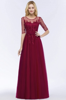 Evening dresses with sleeves | Prom dresses long cheap_9