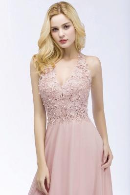 Abendkleider Lang V Ausschnitt | Abiballkleider Rosa_8