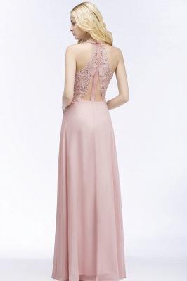 Abendkleider Lang V Ausschnitt | Abiballkleider Rosa_6