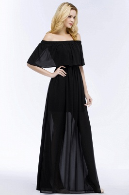 Evening dress long black | Evening wear online_7