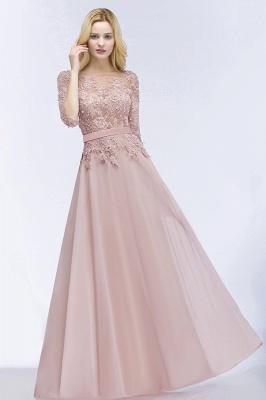Beautiful bridesmaid dresses with sleeves | Bridesmaid dress long pink_4