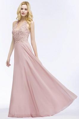Abendkleider Lang V Ausschnitt | Abiballkleider Rosa_11