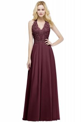 Evening dresses long V neckline | Pink prom dresses_3