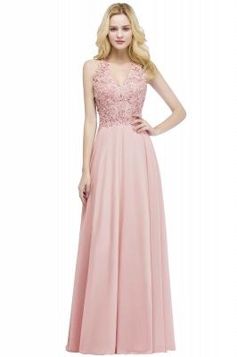 Abendkleider Lang V Ausschnitt | Abiballkleider Rosa_1