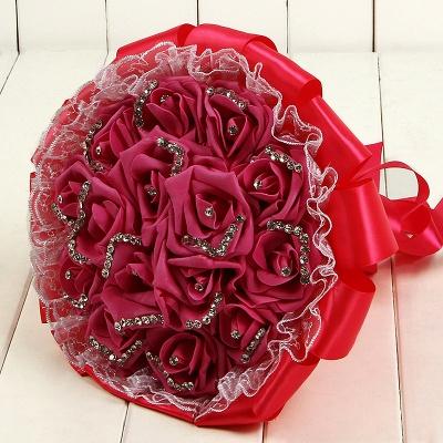 Brautstrauß Klein Rot | Hochzeitsstrauß Vintage_5