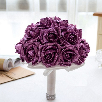 Bridal bouquet registry office wine red | Wedding bouquet_5