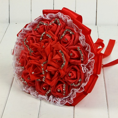 Bridal bouquet small red | Wedding bouquet vintage_4