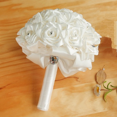 Bridal bouquet of roses white | Order wedding bouquet online_1