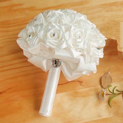 Brautstrauß Rosen Weiß | Hochzeitsstrauß Online Bestellen