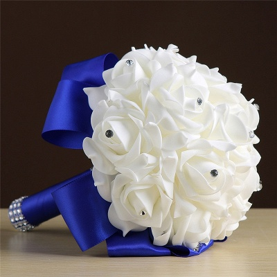 Wedding bouquet drying | Bridal bouquet white blue_9