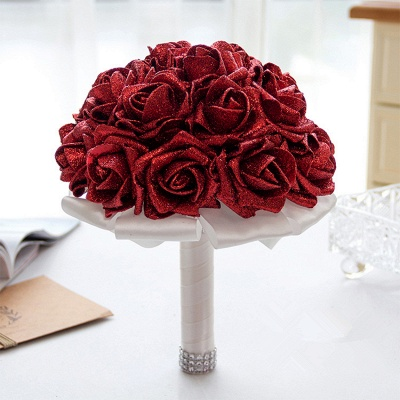 Bridal bouquet registry office wine red | Wedding bouquet_8