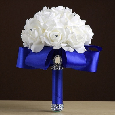 Wedding bouquet drying | Bridal bouquet white blue_6