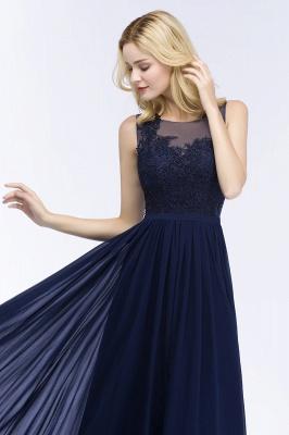 Elegante Brautjungfernkleider Mit Spitze | Brautjungfernkleid Navy Blau_4