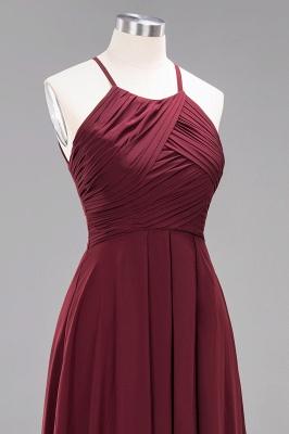 Schlichte Brautjungfernkleider Rot | Günstige Kleider Für Brautjungfern_46