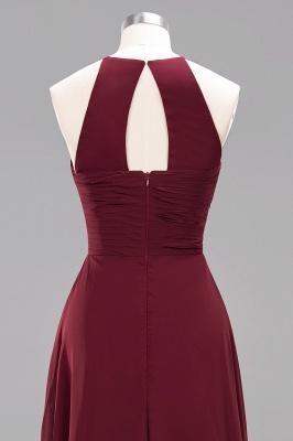 Schlichte Brautjungfernkleider Rot | Günstige Kleider Für Brautjungfern_47