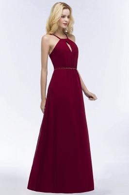 Weinrote Brautjungfernkleider Lang   Chiffon Kleider Für Brautjungfern_4