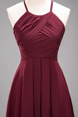 Schlichte Brautjungfernkleider Rot | Günstige Kleider Für Brautjungfern_45