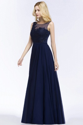 Elegante Brautjungfernkleider Mit Spitze | Brautjungfernkleid Navy Blau_3