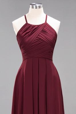 Schlichte Brautjungfernkleider Rot | Günstige Kleider Für Brautjungfern_44