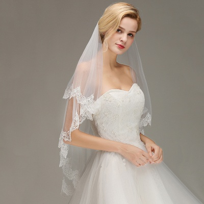 Wedding dress with veil | Wedding veil with lace_4