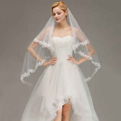 Bridal veil long | Veil with lace_4