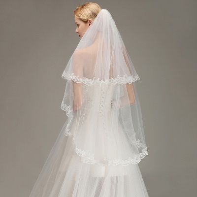 Bridal veil long | Veil with lace_6
