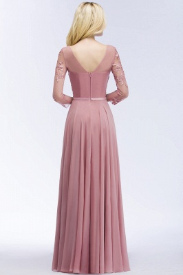 Bridesmaid Dresses Long Dusty Pink | Bridesmaid dress with lace sleeves_2