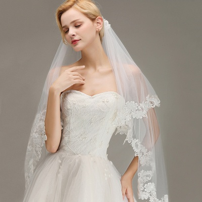 Bridal veil with lace | Buy Veils Online_5