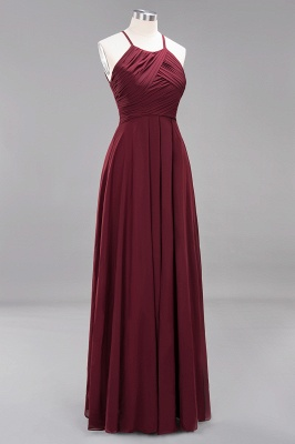 Schlichte Brautjungfernkleider Rot | Günstige Kleider Für Brautjungfern_43