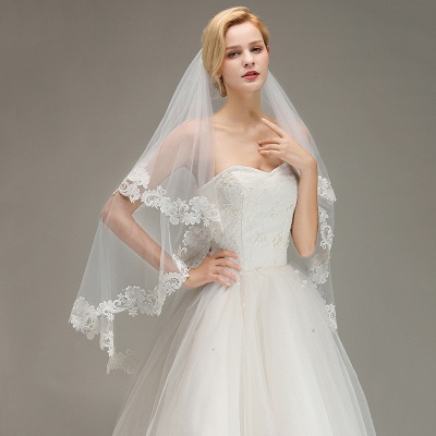 Bridal veil with lace | Buy Veils Online_4