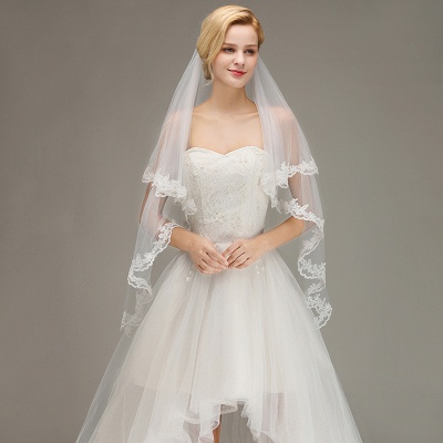 Bridal veil long | Veil with lace_3