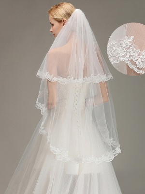 Bridal veil long | Veil with lace_2