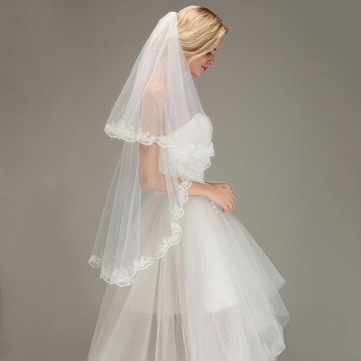 Bridal veil long | Veil with lace_5