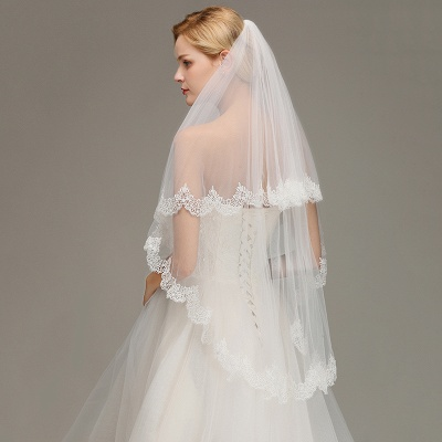 Wedding dress with veil | Wedding veil with lace_5