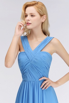 Schöne Brautjungfernkleider Lang Blau   Chiffon Kleider Für Brautjungfern_6