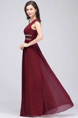 Elegante Brautjungfernkleider Lang | Weinrotes Kleid Für Brautjungfern_4