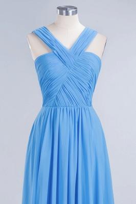 Schöne Brautjungfernkleider Lang Blau   Chiffon Kleider Für Brautjungfern_10
