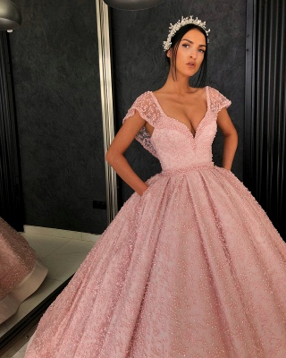 Elegant Evening Dresses Online | Evening dress long pink cheap_3