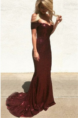 Fashion Evening Dresses Burgundy Long Cheap | Prom dresses online_2