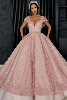 Elegant Evening Dresses Online | Evening dress long pink cheap_1