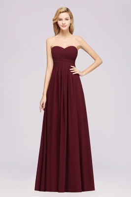 Simple bridesmaid dresses long wine red | Wedding party dresses cheap
