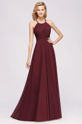 Schlichte Brautjungfernkleider Rot | Günstige Kleider Für Brautjungfern_35