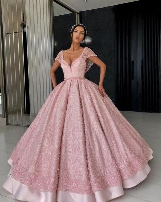 Elegant Evening Dresses Online | Evening dress long pink cheap_4