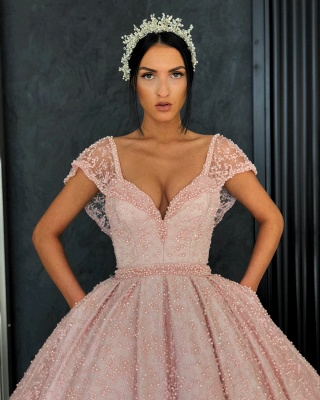 Elegant Evening Dresses Online | Evening dress long pink cheap_2