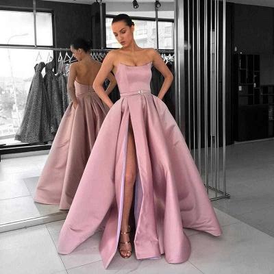Schöne Lange Abendkleider | Abendkleid Lang Rosa Günstig_2