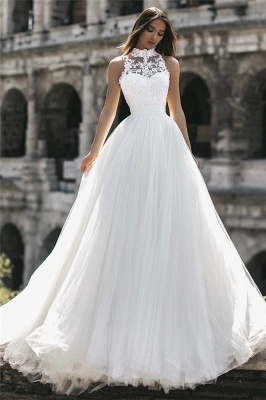 Simple wedding dress with lace | Cheap wedding dresses online_1