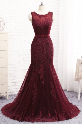 Buy Nice Long Dresses | Evening dresses long red lace_1