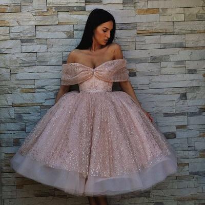 Elegante Cocktailkleider Rosa | Kurze Abendkleider mit Glitzer_2