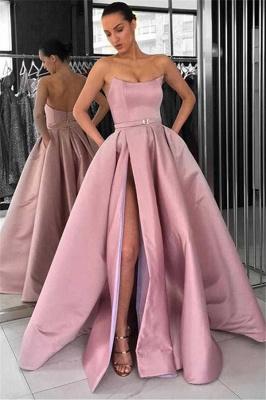 Schöne Lange Abendkleider | Abendkleid Lang Rosa Günstig_1