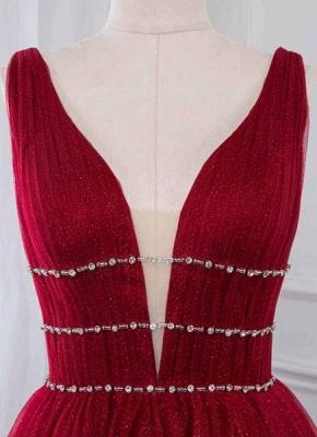 Abendkleid Rot Lang Günstig | Abendkleider Festlich Online_3